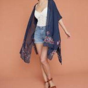Summer & Rose Blue Bohemian Karlie Kimono Wrap